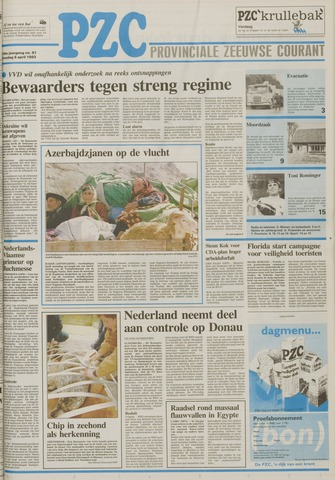 Provinciale Zeeuwse Courant 1993-04-06