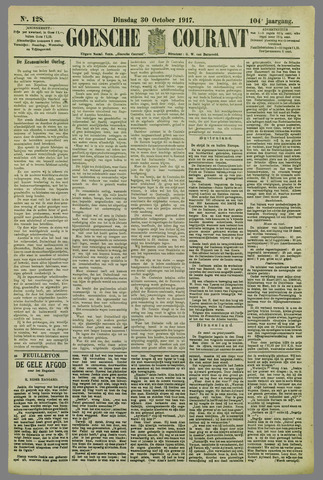 Goessche Courant 1917-10-30