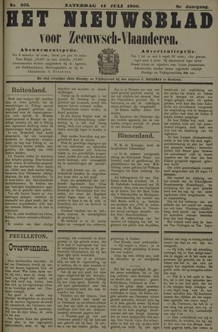Nieuwsblad voor Zeeuwsch-Vlaanderen 1900-07-14