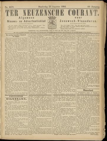 Ter Neuzensche Courant. Algemeen Nieuws- en Advertentieblad voor Zeeuwsch-Vlaanderen / Neuzensche Courant ... (idem) / (Algemeen) nieuws en advertentieblad voor Zeeuwsch-Vlaanderen 1904-08-25