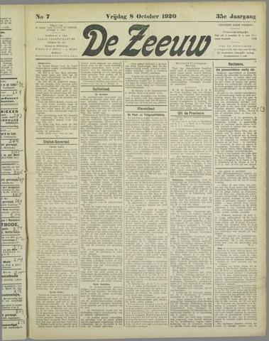 De Zeeuw. Christelijk-historisch nieuwsblad voor Zeeland 1920-10-08