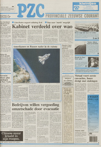 Provinciale Zeeuwse Courant 1995-02-07