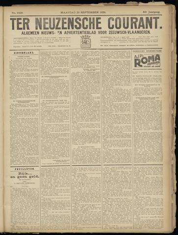 Ter Neuzensche Courant. Algemeen Nieuws- en Advertentieblad voor Zeeuwsch-Vlaanderen / Neuzensche Courant ... (idem) / (Algemeen) nieuws en advertentieblad voor Zeeuwsch-Vlaanderen 1929-09-23