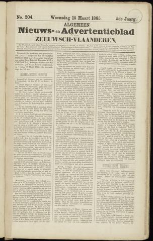 Ter Neuzensche Courant. Algemeen Nieuws- en Advertentieblad voor Zeeuwsch-Vlaanderen / Neuzensche Courant ... (idem) / (Algemeen) nieuws en advertentieblad voor Zeeuwsch-Vlaanderen 1865-03-15