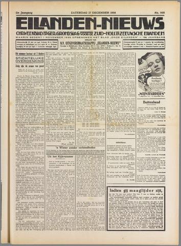 Eilanden-nieuws. Christelijk streekblad op gereformeerde grondslag 1938-12-17