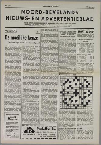 Noord-Bevelands Nieuws- en advertentieblad 1982-07-29