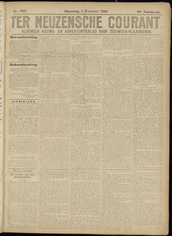 Ter Neuzensche Courant. Algemeen Nieuws- en Advertentieblad voor Zeeuwsch-Vlaanderen / Neuzensche Courant ... (idem) / (Algemeen) nieuws en advertentieblad voor Zeeuwsch-Vlaanderen 1924-02-11