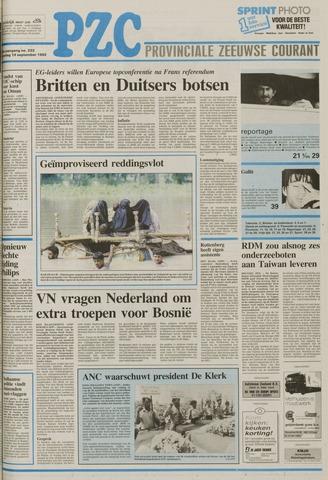 Provinciale Zeeuwse Courant 1992-09-19