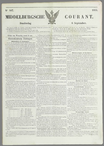 Middelburgsche Courant 1855-09-06