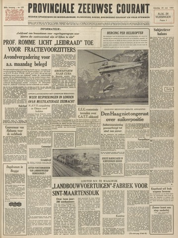 Provinciale Zeeuwse Courant 1963-05-25