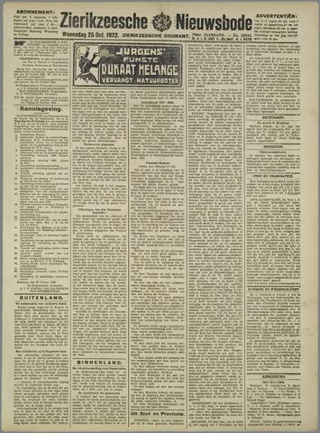 Zierikzeesche Nieuwsbode 1922-10-25