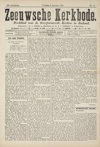 Zeeuwsche kerkbode, weekblad gewijd aan de belangen der gereformeerde kerken/ Zeeuwsch kerkblad 1915-01-08