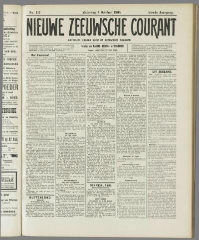 Nieuwe Zeeuwsche Courant 1908-10-03