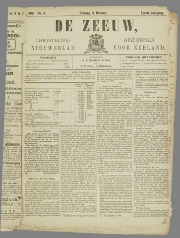 De Zeeuw. Christelijk-historisch nieuwsblad voor Zeeland 1886-10-12