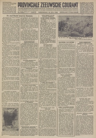 Provinciale Zeeuwse Courant 1942-07-22