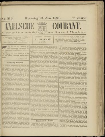 Axelsche Courant 1891-06-24