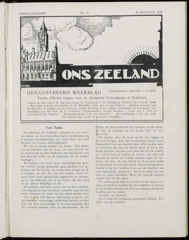 Ons Zeeland / Zeeuwsche editie 1926-08-28