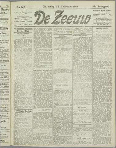 De Zeeuw. Christelijk-historisch nieuwsblad voor Zeeland 1917-02-24