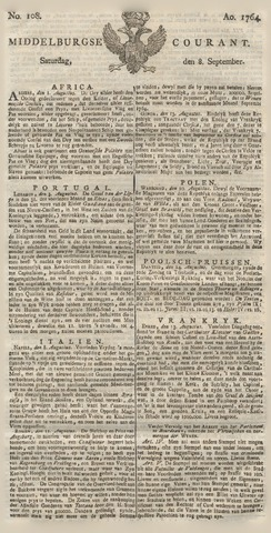 Middelburgsche Courant 1764-09-08