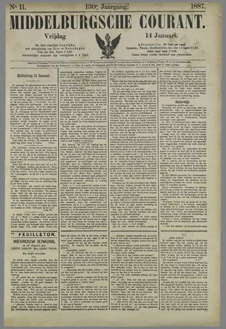 Middelburgsche Courant 1887-01-14