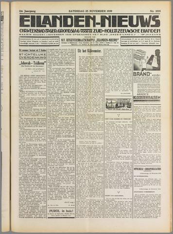 Eilanden-nieuws. Christelijk streekblad op gereformeerde grondslag 1939-11-25