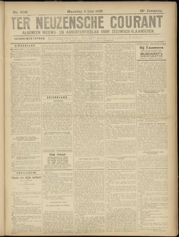 Ter Neuzensche Courant. Algemeen Nieuws- en Advertentieblad voor Zeeuwsch-Vlaanderen / Neuzensche Courant ... (idem) / (Algemeen) nieuws en advertentieblad voor Zeeuwsch-Vlaanderen 1928-06-04