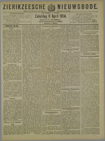 Zierikzeesche Nieuwsbode 1914-04-11