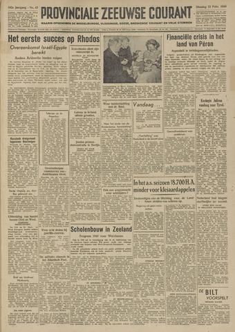 Provinciale Zeeuwse Courant 1949-02-22