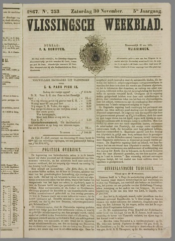 Vlissings Weekblad 1867-11-30
