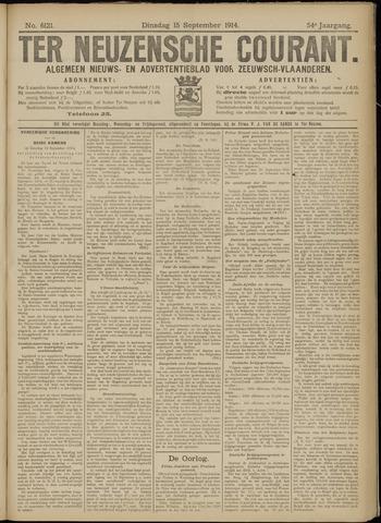 Ter Neuzensche Courant. Algemeen Nieuws- en Advertentieblad voor Zeeuwsch-Vlaanderen / Neuzensche Courant ... (idem) / (Algemeen) nieuws en advertentieblad voor Zeeuwsch-Vlaanderen 1914-09-15