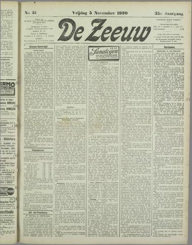 De Zeeuw. Christelijk-historisch nieuwsblad voor Zeeland 1920-11-05