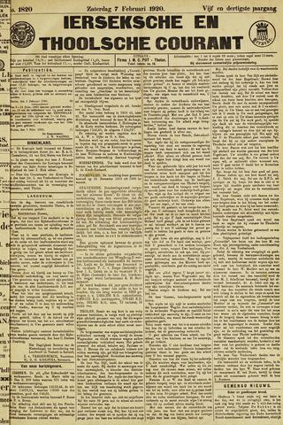 Ierseksche en Thoolsche Courant 1920-02-07