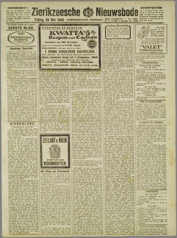 Zierikzeesche Nieuwsbode 1926-05-28