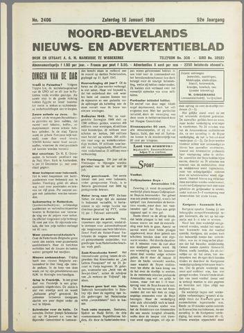 Noord-Bevelands Nieuws- en advertentieblad 1949-01-15