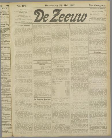 De Zeeuw. Christelijk-historisch nieuwsblad voor Zeeland 1917-05-24
