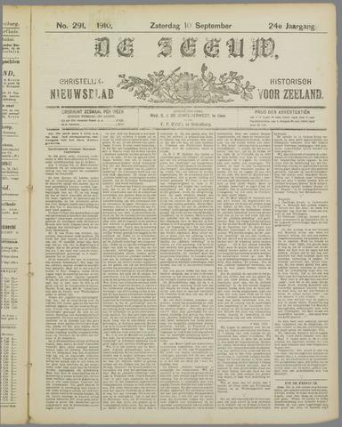 De Zeeuw. Christelijk-historisch nieuwsblad voor Zeeland 1910-09-10