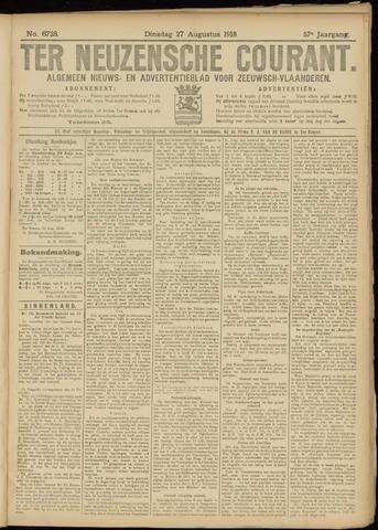 Ter Neuzensche Courant. Algemeen Nieuws- en Advertentieblad voor Zeeuwsch-Vlaanderen / Neuzensche Courant ... (idem) / (Algemeen) nieuws en advertentieblad voor Zeeuwsch-Vlaanderen 1918-08-27