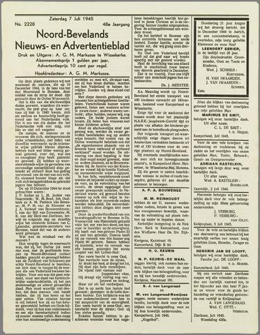 Noord-Bevelands Nieuws- en advertentieblad 1945-07-07