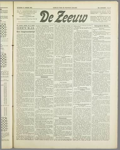 De Zeeuw. Christelijk-historisch nieuwsblad voor Zeeland 1934-01-13