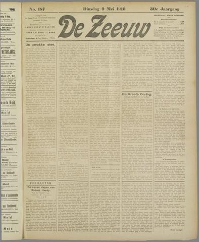 De Zeeuw. Christelijk-historisch nieuwsblad voor Zeeland 1916-05-09