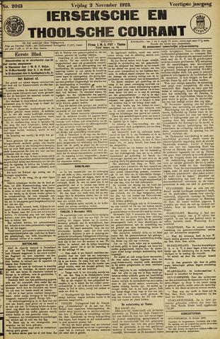 Ierseksche en Thoolsche Courant 1923-11-02