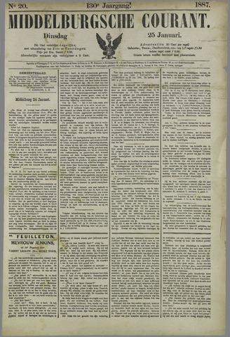 Middelburgsche Courant 1887-01-25