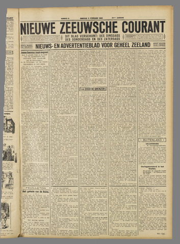 Nieuwe Zeeuwsche Courant 1932-02-09