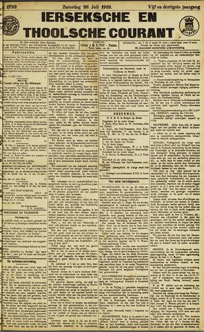 Ierseksche en Thoolsche Courant 1919-07-26