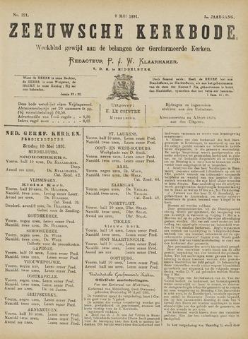 Zeeuwsche kerkbode, weekblad gewijd aan de belangen der gereformeerde kerken/ Zeeuwsch kerkblad 1891-05-09