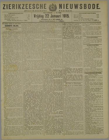 Zierikzeesche Nieuwsbode 1915-01-22