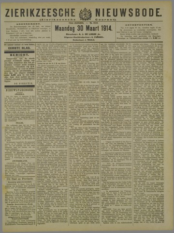 Zierikzeesche Nieuwsbode 1914-03-30