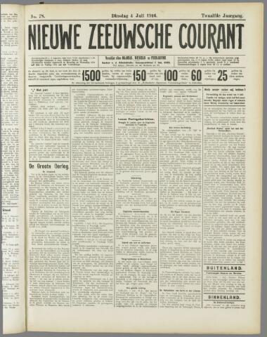 Nieuwe Zeeuwsche Courant 1916-07-04