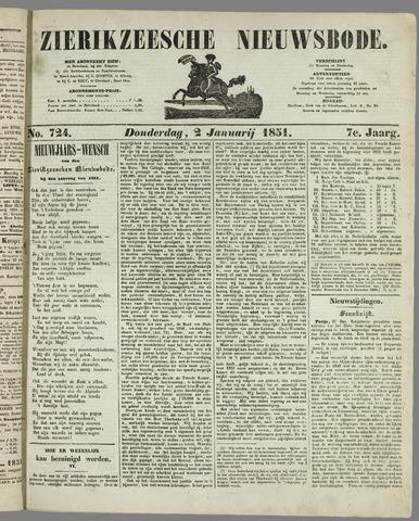 Zierikzeesche Nieuwsbode 1851-01-02