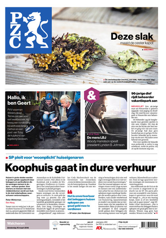 Provinciale Zeeuwse Courant 2018-03-15